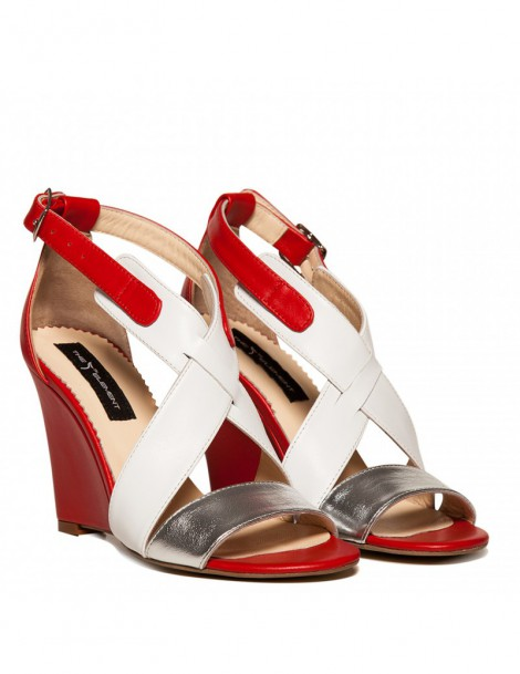 Sandale dama Glam Red Piele Naturala - The5thelement.ro