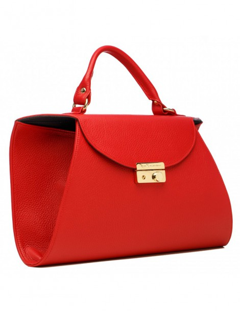 Geanta Piele Naturala Dama Fusion Red - The5thelement.ro