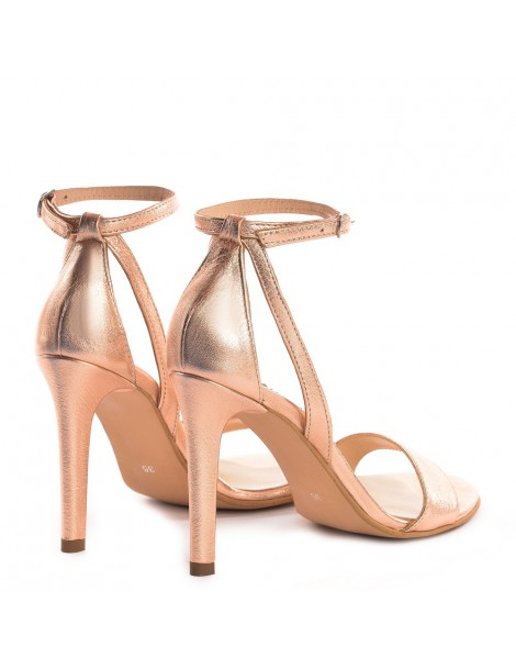 Sandale dama Simple Gold Rose Piele Naturala - The5thelement.ro