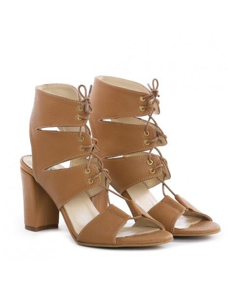 Sandale dama Safari Nude Piele Naturala - The5thelement.ro