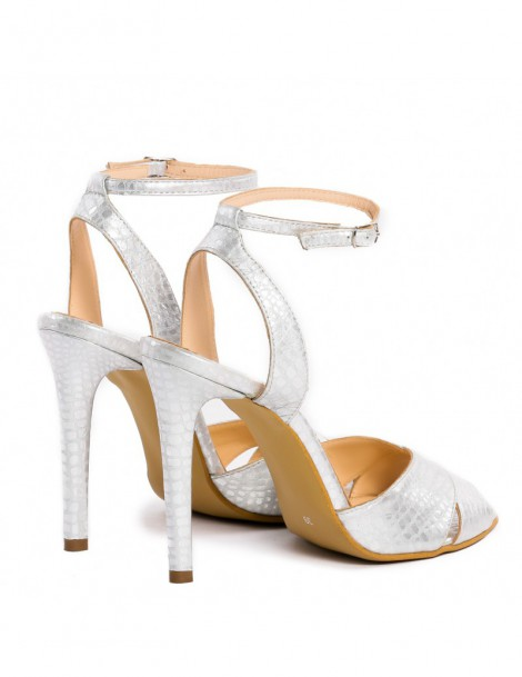 Sandale dama Keira Silver Piele Naturala - The5thelement.ro