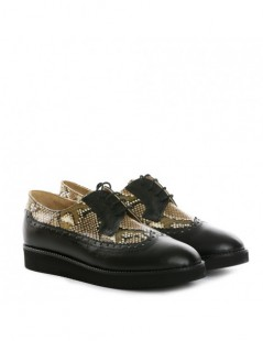 Pantofi dama Oxford Black din Piele Naturala - The5thelement.ro