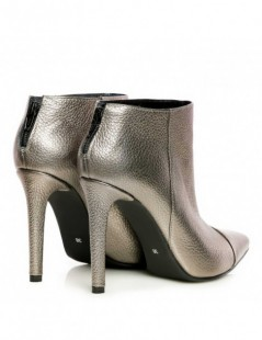 Botine dama Piele Naturala Emotion Bronze Ankle Boots - The5thelement.ro