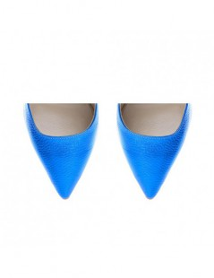 Pantofi dama Piele Naturala Albastru Kim - The5thelement.ro