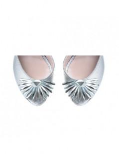 Pantofi dama The 70's Argintiu Piele Naturala - The5thelement.ro