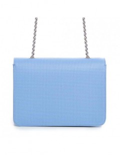 Geanta Piele Naturala Dama Urban Big Bleu Dots - The5thelement.ro