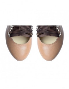 Ghete dama Piele Naturala Ballerina Nude - The5thelement.ro