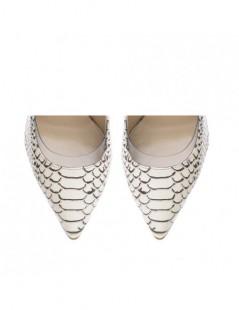 Pantofi Stiletto Piele Naturala Nude Snake Glamour - The5thelement.ro