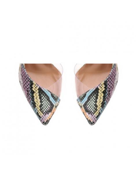 Pantofi dama Piele Naturala Multicolor Snake Leila - The5thelement.ro