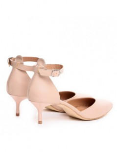 Pantofi Stiletto Piele Naturala Nude Clara - The5thelement.ro