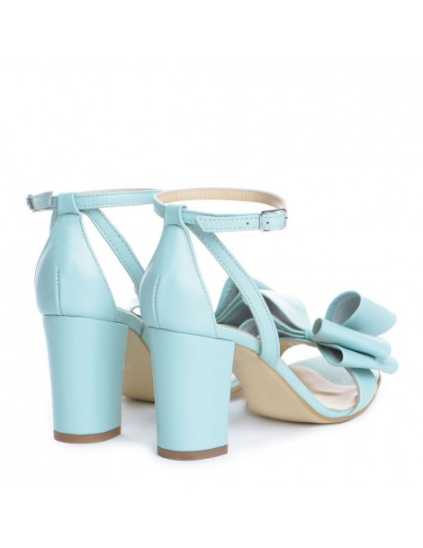 Sandale dama Piele Naturala Menta Bow - The5thelement.ro