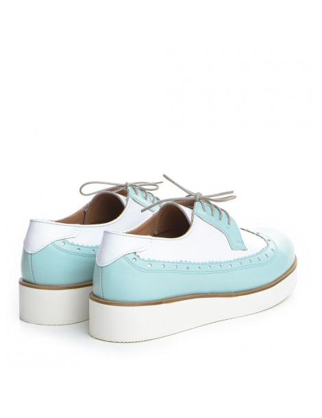 Pantofi dama Oxford Alb din Piele Naturala - The5thelement.ro