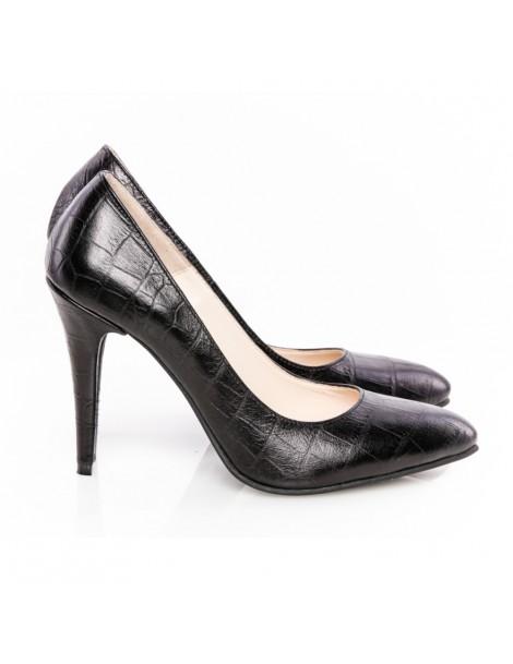 Pantofi dama Black Croc...