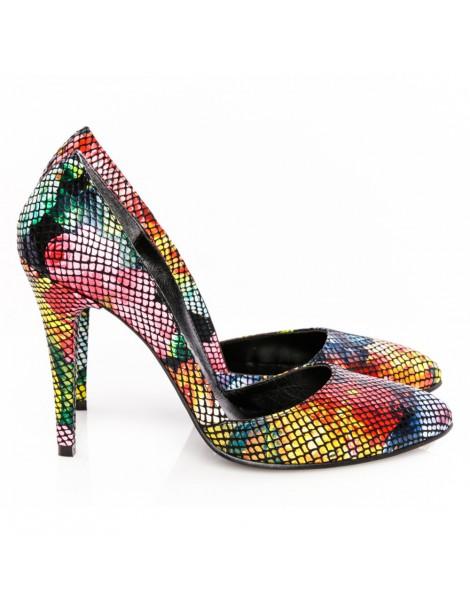 Pantofi dama stiletto Black...