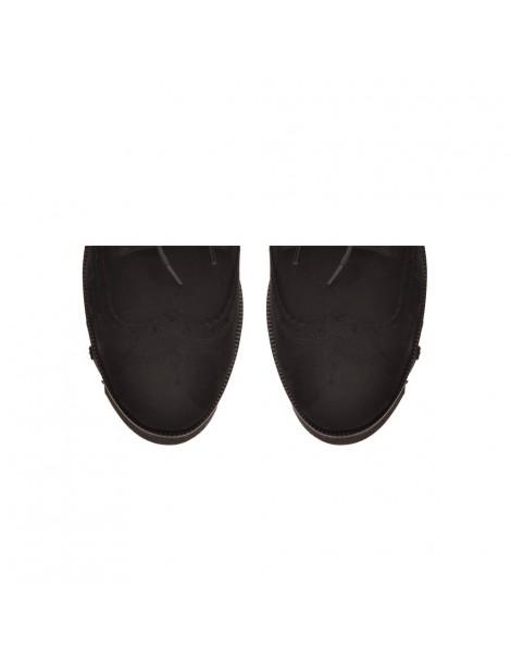 Pantofi dama Oxford Negru din Piele Naturala - The5thelement.ro