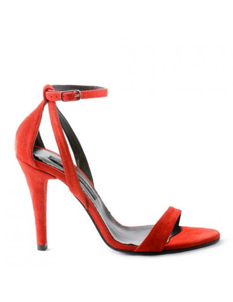 Sandale dama Simple Light Red Piele Naturala - The5thelement.ro