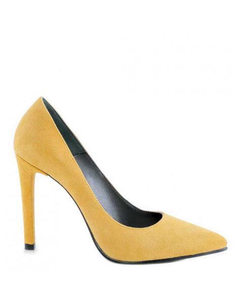 Pantofi dama Yellow Velvet...