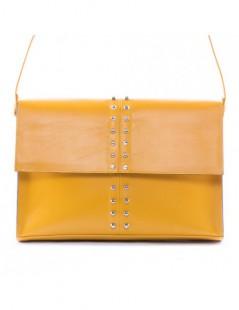 Geanta dama Piele Naturala Yellow Studded - The5thelement.ro