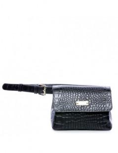 Geanta Piele Naturala Dama Waist Bag Croc - The5thelement.ro