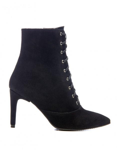 Botine dama Lace-Up Black...