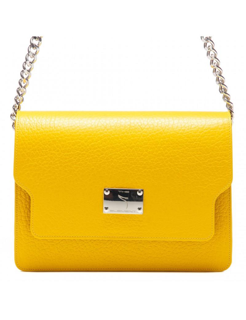 Geanta dama Piele Naturala Simple Yellow - The5thelement.ro