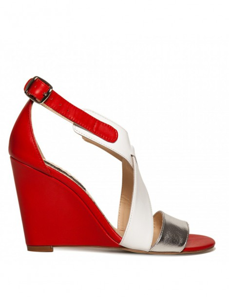 Sandale dama Glam Red Piele...