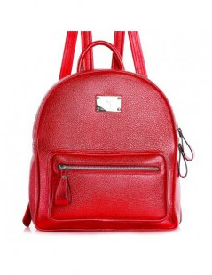Rucsac dama Piele Naturala  Sporty Royal Red - The5thelement.ro