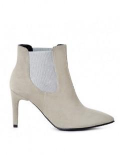Botine dama All Day Grey Piele Naturala - The5thelement.ro
