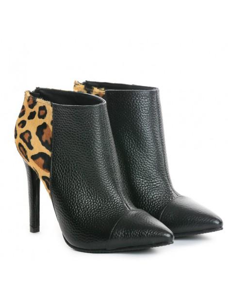 Botine dama Piele Naturala Emotion Ankle Boots Animal - The5thelement.ro