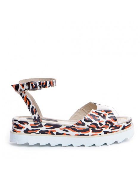 Sandale dama Alb animal...
