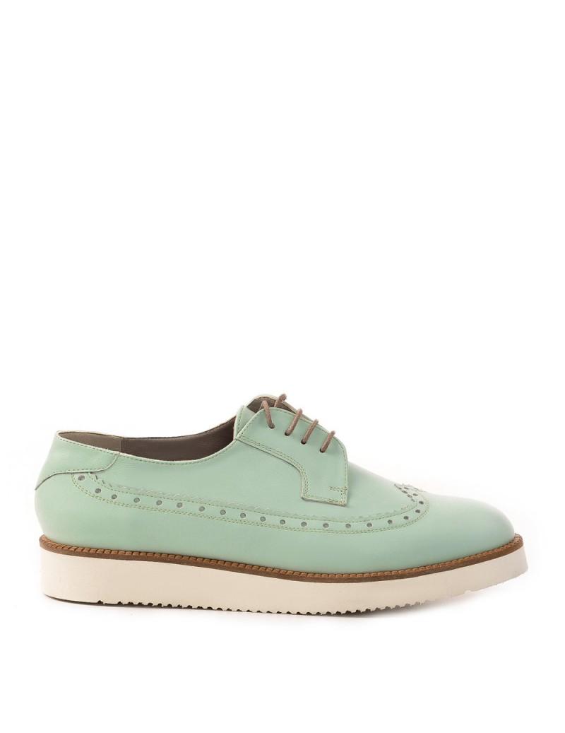 Pantofi dama Oxford Mint din Piele Naturala - The5thelement.ro