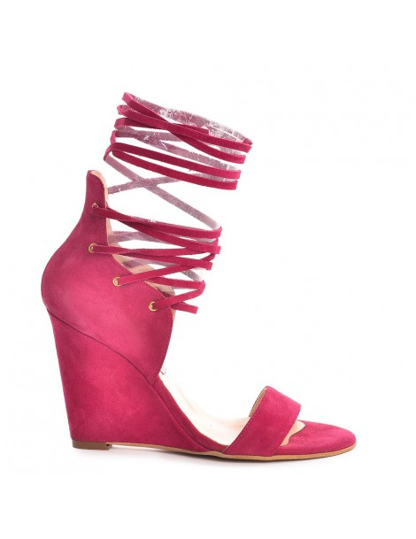 Sandale dama Marisa Lace-Up Fucsia Piele Naturala - The5thelement.ro