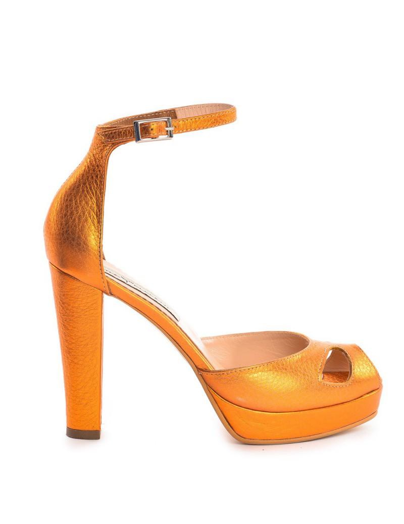 Sandale dama The 70's Orange Piele Naturala - The5thelement.ro