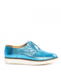 Pantofi dama Sport Petrol Blue din Piele Naturala - The5thelement.ro
