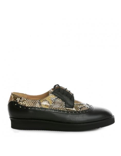 Pantofi dama Oxford Black...