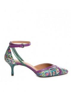Pantofi Stiletto Piele Naturala Mov Aztec Rihanna - The5thelement.ro