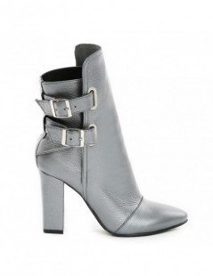 Ghete dama Piele Naturala Rock the City Silver - The5thelement.ro