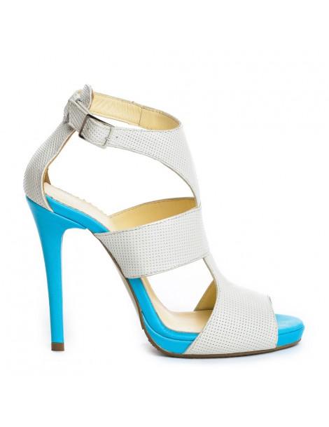 Sandale dama Queen White...