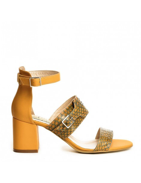 Sandale dama Strappy Camel...