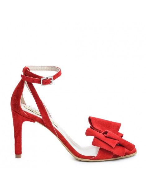 Sandale dama Simple Red Bow...