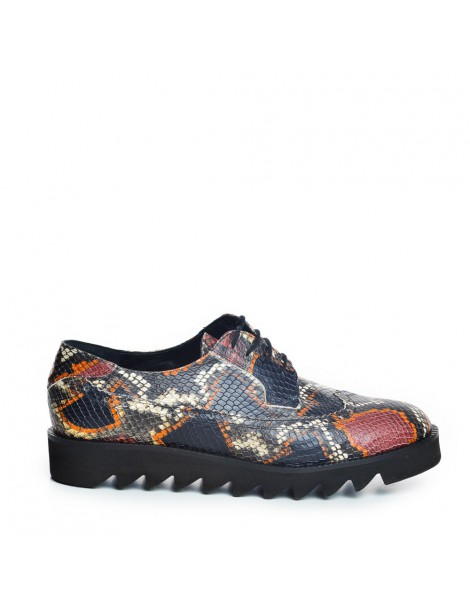 Pantofi dama Oxford visiniu...