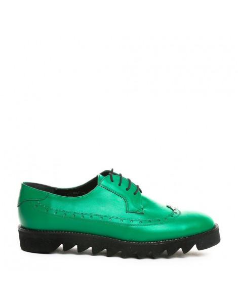 Pantofi dama Oxford Green...