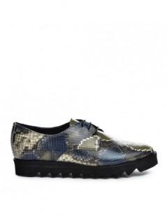 Pantofi dama Oxford Bronze Snake din Piele Naturala - The5thelement.ro