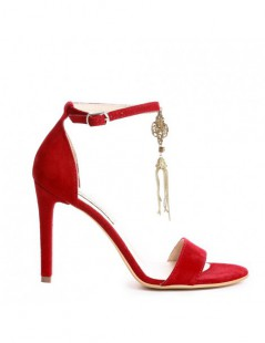 Sandale dama Simple Red Baroque Piele Naturala - The5thelement.ro