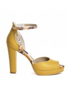 Sandale dama Pretty Yellow Piele Naturala - The5thelement.ro