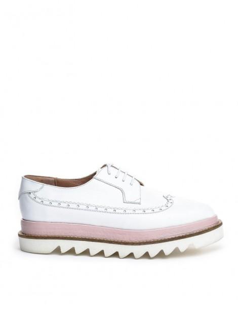 Pantofi dama Oxford White...