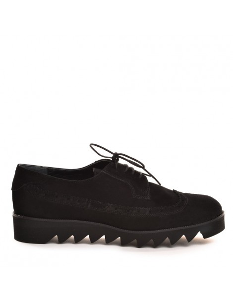 Pantofi dama Oxford Negru...