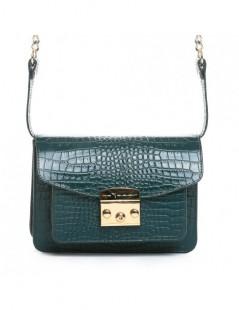 Geanta Piele Naturala Dama Urban Bag Green Croco - The5thelement.ro