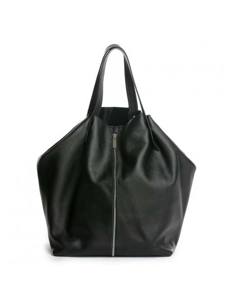 Geanta Dama Piele Naturala Negru Shopper XL - The5thelement.ro