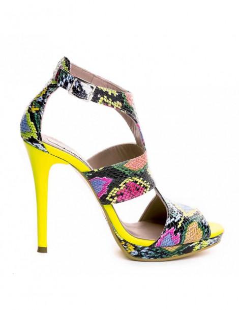 Sandale dama Snake COLORAT...